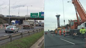 Začaly opravy vytížené Štěrboholské spojky: Dopravu zkomplikovaly nehody