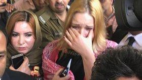 Soud v Pákistánu vynesl verdikt za heroin: Tereza (22) se zhroutila v slzách!