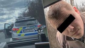 Podivná silniční kontrola u Prostějova: Řidič dal policistovi lekci z předpisů