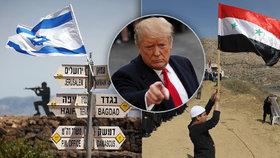 """Trump šokoval Golanami pro Izrael. """"Rozdává, co mu nepatří,"""" schytal to z Íránu"""