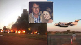 Pilot spáchal kamikaze na klub, ve kterém chtěl zabít manželku. Zabil jen sebe