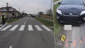 Chlapečka (†4) na odrážedle smetlo na přechodu auto, Davídek na místě zemřel