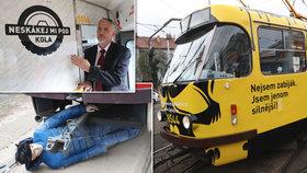 »Nechci být tvá poslední tramvaj!« Sražených chodců v Praze přibývá, nová kampaň to má změnit
