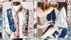 Stovky elegánů obléká její květované kravaty. Podle Anny (34) není česká móda jen o sandálech a ponožkách