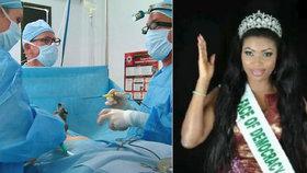 Krásná Miss chtěla zvětšit pozadí: Zpackanou operaci nepřežila!