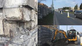 Zúžení na Bělohorské potrápí řidiče až do srpna:  Nedaleko Vypichu opravují protihlukovou stěnu