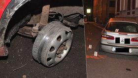 Opilý řidič ztratil při kolizi pneumatiku. Čtyři kilometry ujížděl po ráfku