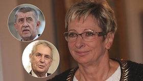 Půlka Senátu žádá Babiše, aby vyhodil Novákovou. Mám podporu prezidenta, kontruje ministryně