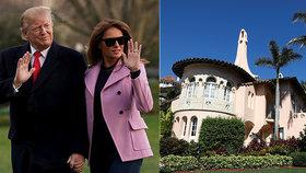 Oáza klidu pro Melanii Trump: První dáma utíká z Bílého domu na Floridu