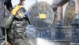 VIDEO: Na dně Vltavy: Takhle potápěči zkoumají pilíře Palackého mostu! Co objevili?