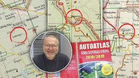 """Antonín """"cupuje"""" autoatlas plný chyb: Silnice na sjezdovce i špatné názvy obcí"""
