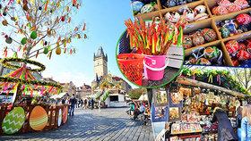 Centrum Prahy hraje barvami. Velikonoční trhy lákají na kraslice i klobásy
