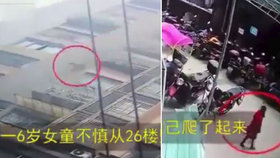 Šokující video: Malá holčička vypadla z 26. patra! Co se stalo potom, vyráží dech
