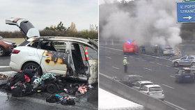Rodina z Brněnska z hořícího auta zachránila jen holé životy: Omluvy ani peněz se od prodejce nedočkali