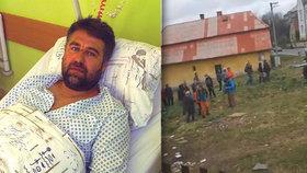 Rasisticky nám nadával, hájí se Romové z Bruntálska: Martin je po napadení zpátky v nemocnici