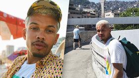 Šokovaný Ben Cristovao při natáčení videoklipu v Rio de Janeiru: Okradli mě! A střílelo se!