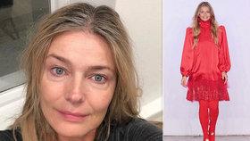Šediny a pytle pod očima! Topmodelka Pořízková slaví 54 let a odhalila pravou tvář