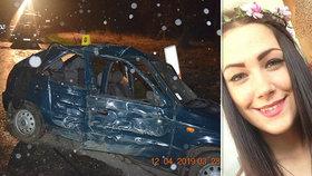 Opilý řidič narazil do stromu: Krásná Lenka nehodu nepřežila