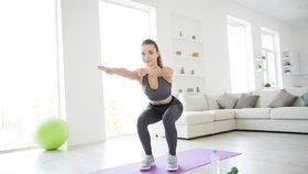 Pusťte se do cvičení doma! Za půl hodiny spálíte až 300 kalorií