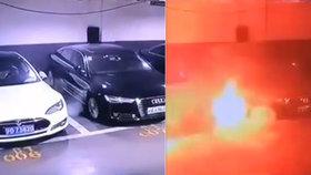 Luxusní elektromobil Tesla zničehonic explodoval: Firma na místo posílá experty