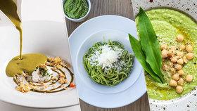 Tři rychlé recepty s medvědím česnekem: Polévka, pesto i konopný hummus