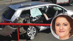 Poslankyně Blahová (45) měla vážnou nehodu: Automobil je na odpis!