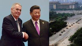 Zeman se zamyslel nad demokracií v Číně. Nespěchal by s ní kvůli hrozbě chaosu