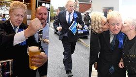 Exministr Johnson se před volbami líbal s fanynkami a čepoval pivo v hospodě