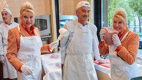 Zvláštní pohled: Miliardářka Ivana Trumpová řádila v kuchyni! Flákota, palička a zástěra