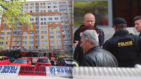 Vražda na jihu Prahy! V hořícím bytě ležela mrtvá žena i granát. 78 lidí evakuovali