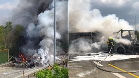 Mrtvý dozorce a 14 zraněných. Policie hledá svědky tragické nehody vězeňského autobusu a tahače na Pražském okruhu