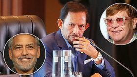 Sultán vycouval z trestu smrti pro gaye. Brunej peskoval Clooney i Elton John