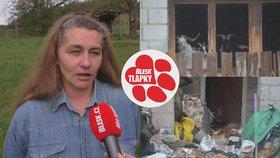 Kozy u tyranky Marie dál živoří na balkoně. Lidé nabízí pomoc, úřad ale mlčí