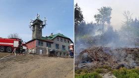 Zásah hasičů na Tanvaldském Špičáku: Hodiny boje v nepřístupném terénu!