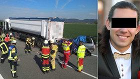 Tragédie na německé dálnici: Martin (†20) zemřel, když se vracel s právě koupeným autem!