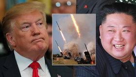 """Kim znovu vystrašil jižní sousedy. """"Zkrátka rád testuje rakety,"""" glosuje Trump"""