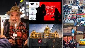 Takové, jaké je: Venkovní výstava zobrazuje černou i bílou stránku Václavského náměstí