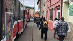 Kolaps MHD v Brně: V ranní špičce mají auta do Táborské ulice zákaz vjezdu