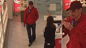 Zloděj ukradl z optiky sluneční brýle za 6 tisíc. Sundal z nich bezpečnostní prvek a zmizel