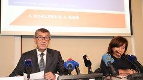 """Babiš a Schillerová ukázali rozpočet s """"dírou"""" 40 miliard. A řekli víc o fondu bank"""