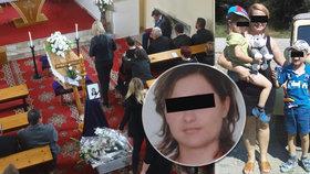Pohřeb Moniky (†37) po tragické nehodě: Děti věří, že je maminka v nemocnici