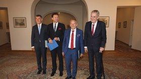 """""""Skvělý projev,"""" chválil Zeman výbušnou řeč Kubery. S Babišem a Vondráčkem řešil volby"""