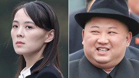 """Kam zmizela severokorejská """"princezna""""? Kim zbavil sestru funkcí, sílí spekulace"""