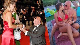 Zlatokopka, nebo životní láska? Názory na snoubenku (25) českého milionáře (63) se různí