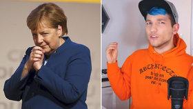 """""""Ničíte naši zemi."""" Merkelová čelí zlobě youtubera, s reakcí si neví CDU rady"""