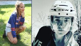 Lucka Vondráčková fandí z Kanady: V helmě našich soupeřů!