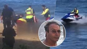 Turista (†65), kterému žralok ukousl nohu pár metrů od pobřeží: Přátelé vzpomínají