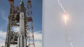 Startující Sojuz trefil blesk: Stejně jako Apollo 12 před 50 lety