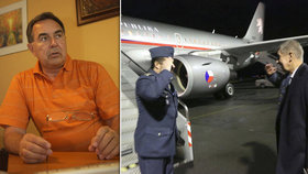 U Babiše v letadle se střílelo. Ochranka exministra prostřelila pro změnu podlahu