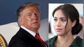 """""""Nevěděl jsem, že je tak nepříjemná!"""" Trump se obul do vévodkyně Meghan"""